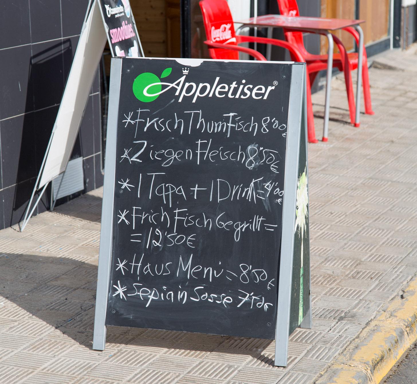 Taal: een bord in het Duits